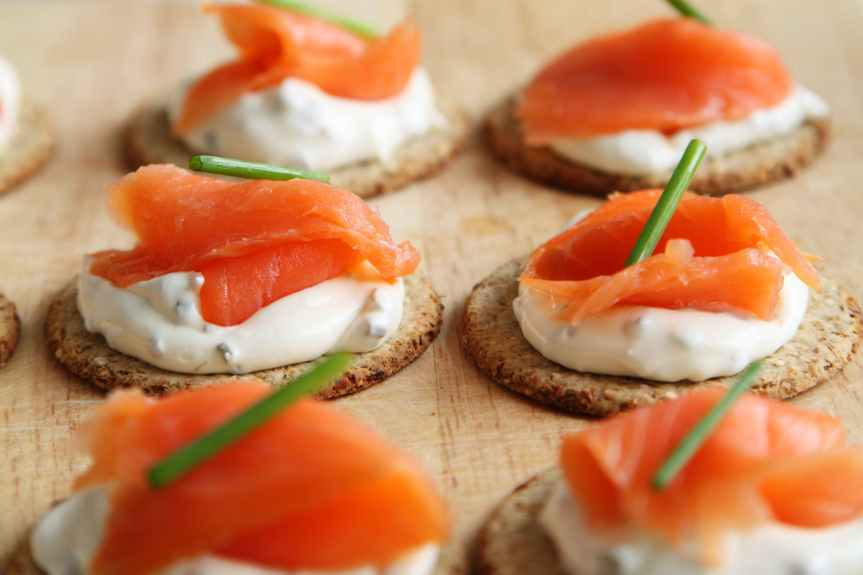 Smoked Salmon and Dill Cookies